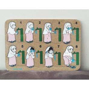 Wooden Wudhuk Movement Puzzle (Female)